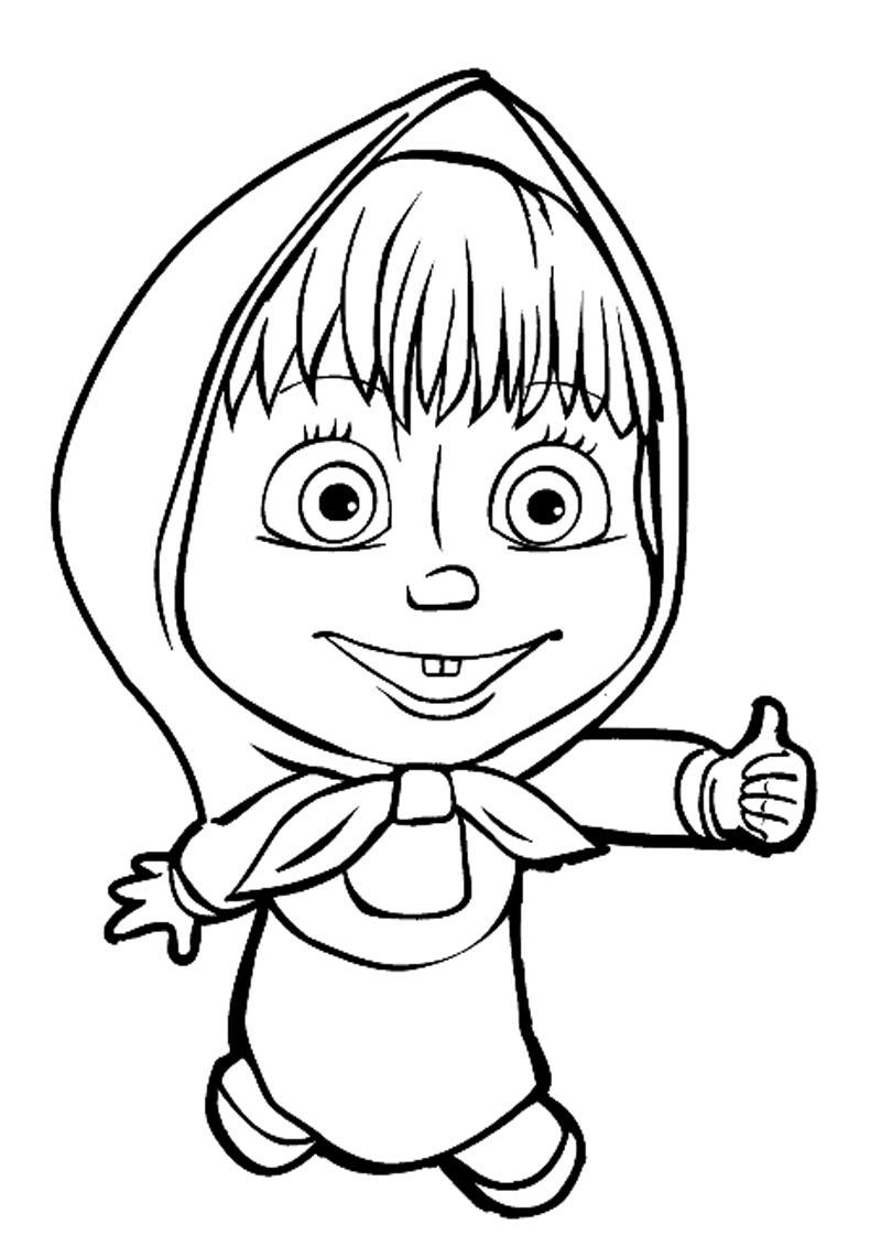 Маша показывает класс Раскраски для девочек бесплатно