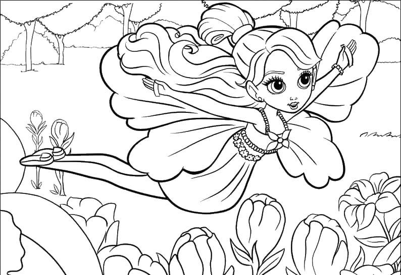 Раскраска для девочек природа распечатать - 10