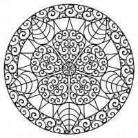 Узор с цветком в центре Новые раскраски с цветами