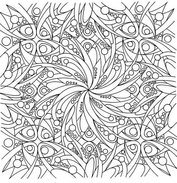 Красивый узор с цветами Новые раскраски с цветами