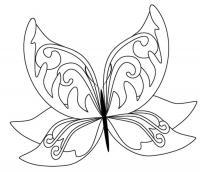 Узор бабочка Новые раскраски с цветами
