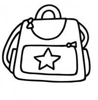 Сумочка со звездой Раскраски для девочек распечатать