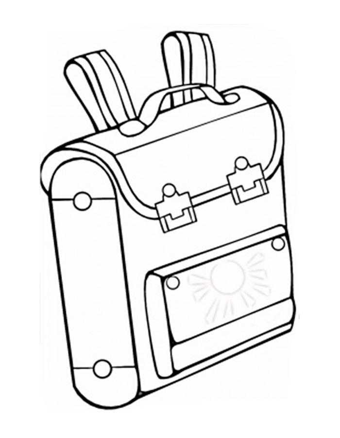 Ранец с большими застежками Раскраски для девочек распечатать