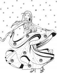 Барби в зиму Раскраски для девочек бесплатно