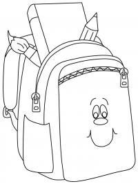 Портфель с карандашами и книгами Раскраски для девочек распечатать