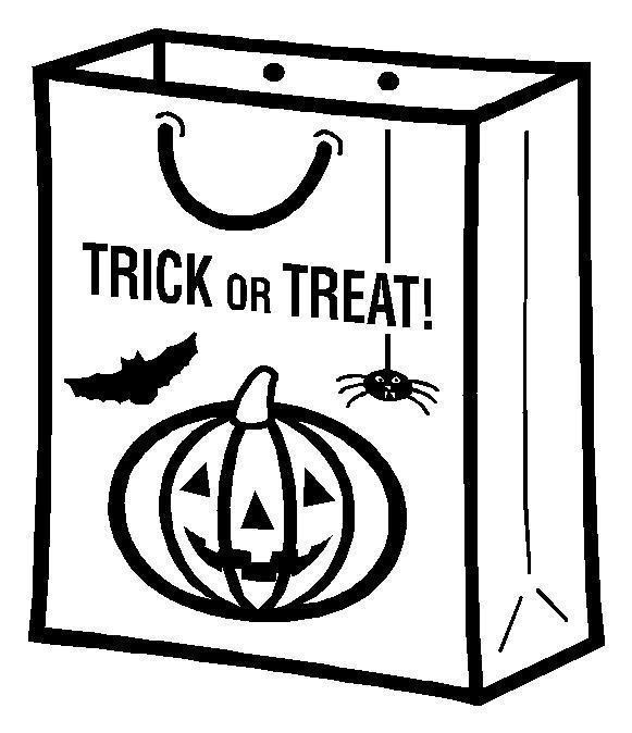 Сумка для хэллоуина Раскраски для девочек распечатать