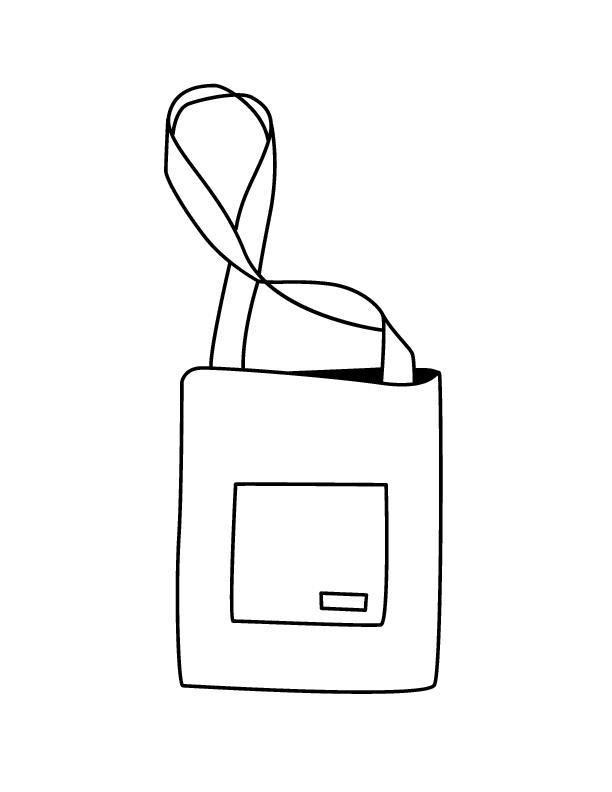 Сумка на длинном ремне Раскраски для девочек распечатать