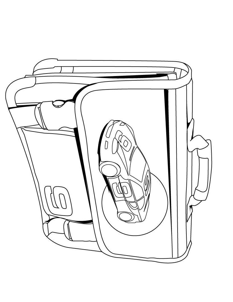 Сумочка с машиной Раскраски для девочек бесплатно