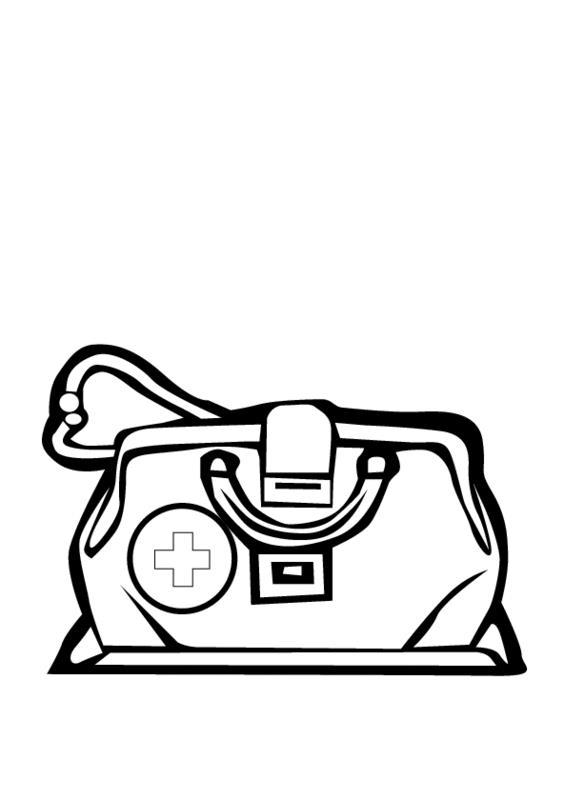 Сумка для врача Раскраски для девочек онлайн