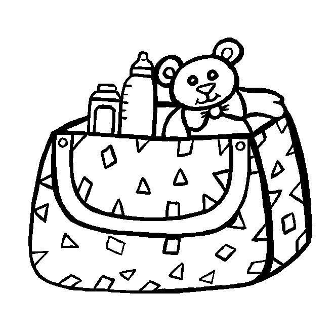 Сумочка с игрушками Раскраски для девочек распечатать