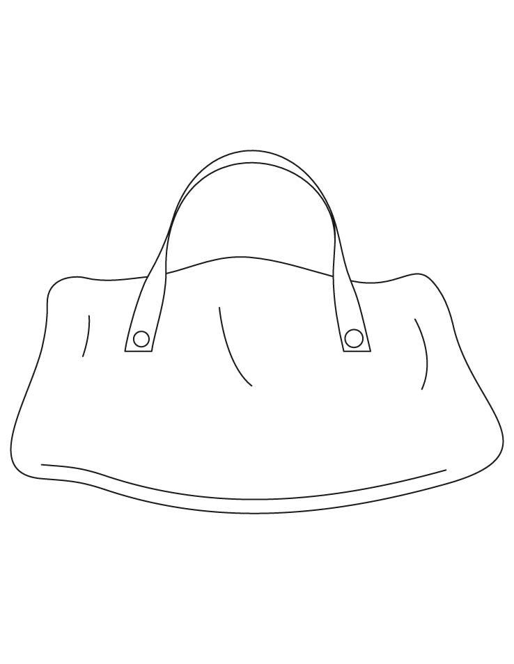 Большая сумка Раскраски для девочек бесплатно