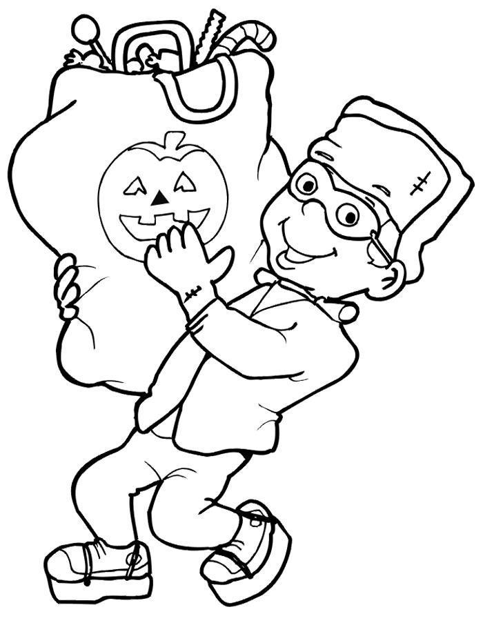 Хэллоуин Раскраски для девочек бесплатно