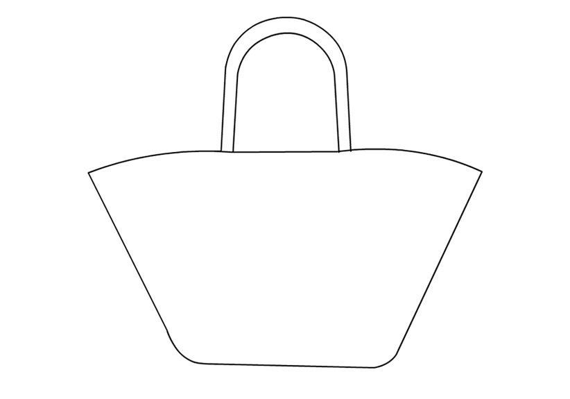 Широкая сумка Раскраски для девочек распечатать