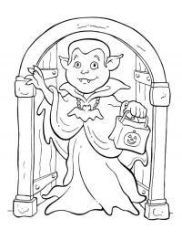 Вампир с сумочкой Раскраски для девочек бесплатно