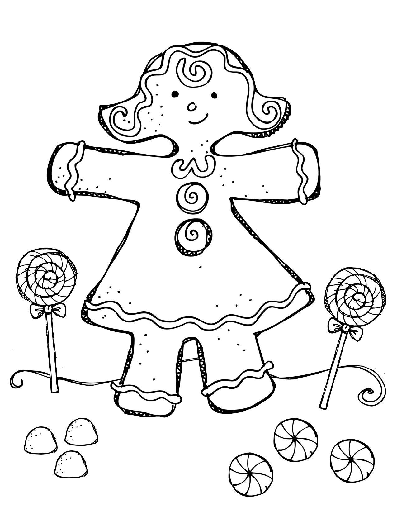 Сладости Раскраски для девочек онлайн