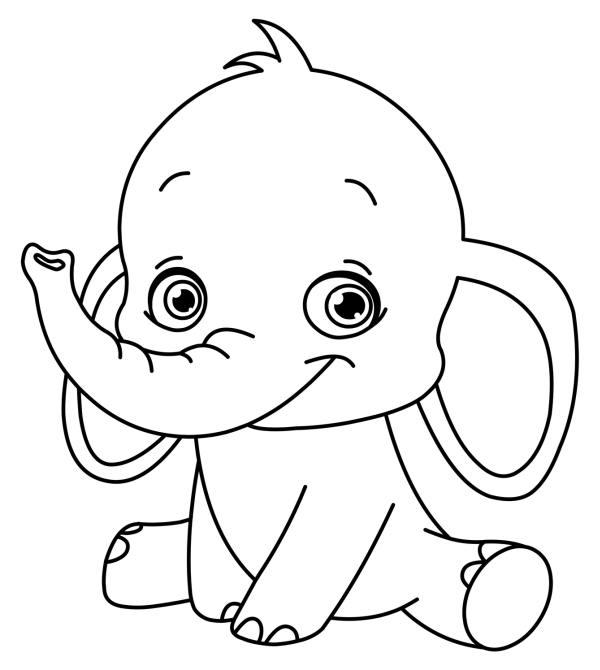 Слоненок Раскраски для девочек бесплатно
