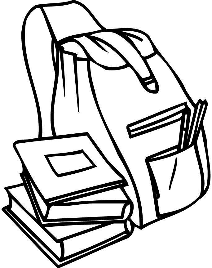 Книги возле ранца Раскраски для девочек онлайн