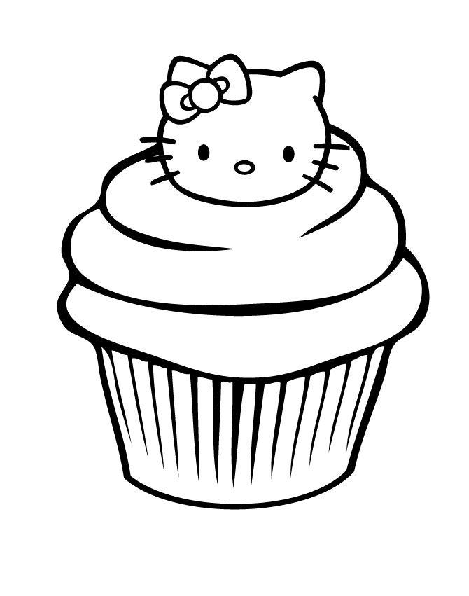 Китти пироженое Раскраски для девочек онлайн