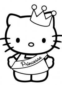 Китти принцесса Раскраски для девочек онлайн