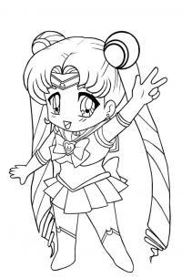 Сейлор мун Раскраски <em>картинки для раскраски для девочек аниме</em> для девочек онлайн