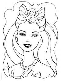 Барби с лебедью Раскраски цветочки  для девочек