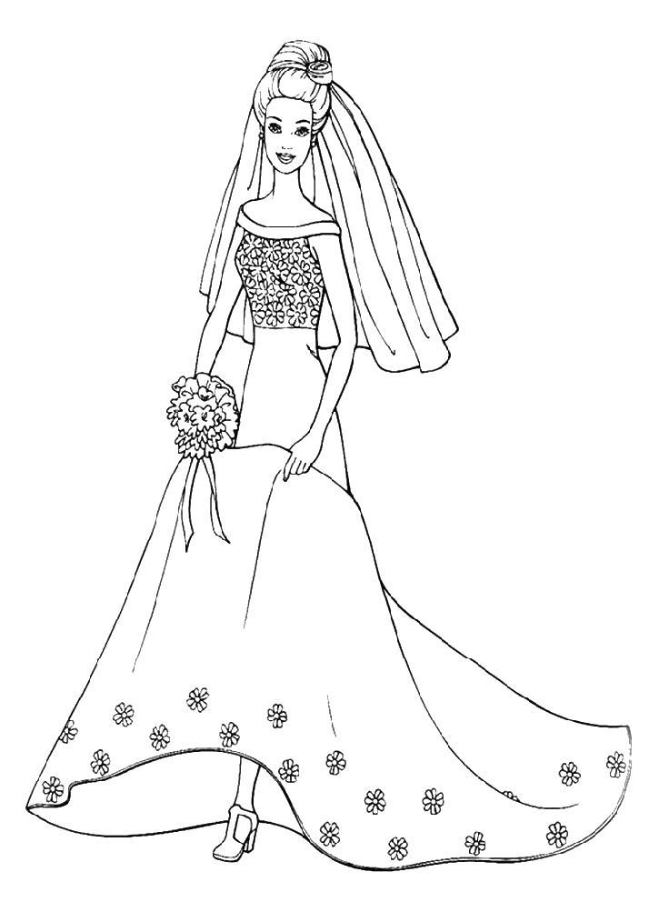 Идет на венчание Раскраски с цветами распечатать бесплатно