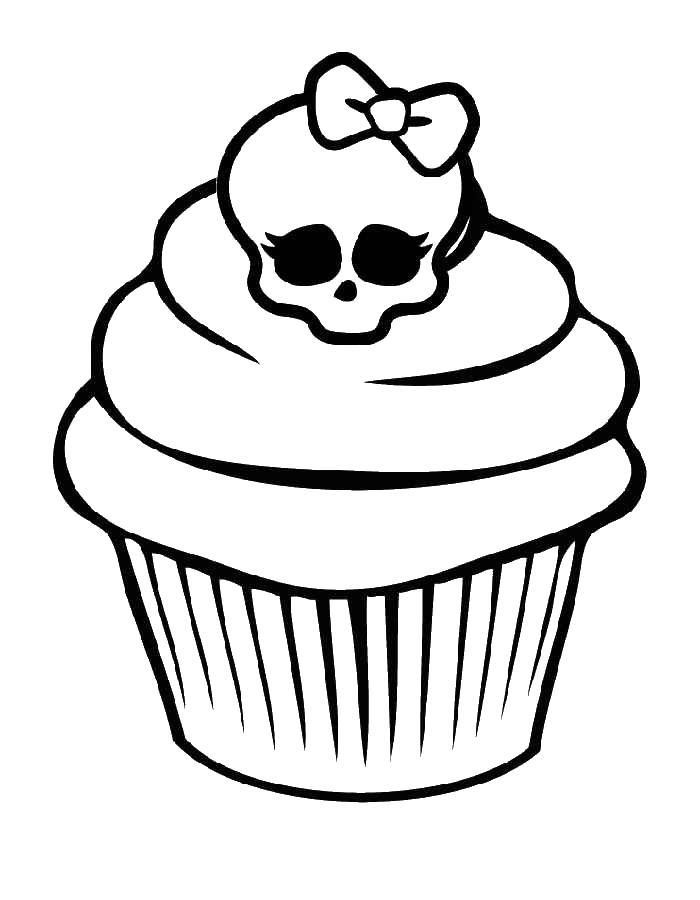 Кекс Раскраски для девочек бесплатно