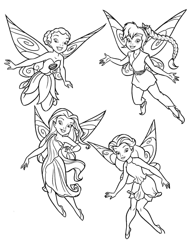 Раскраски для девочек феи онлайн