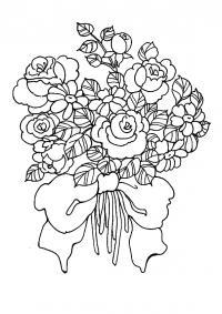 Много цветов Раскраски с цветами распечатать бесплатно