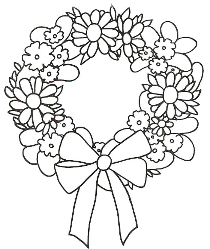Цветы абодок Раскраски для девочек скачать