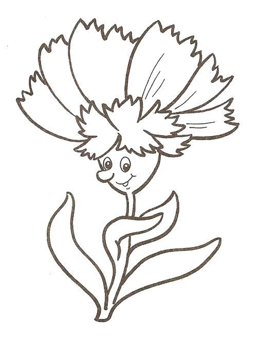 Цветы человек Раскраски с цветами распечатать бесплатно