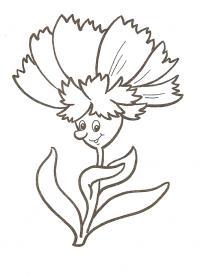 Цветы человек Онлайн бесплатные раскраски цветы
