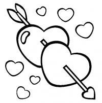 Сердечки и стрела Раскраски для девочек бесплатно