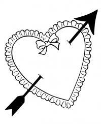 Сердечка с стрелой Раскраски для девочек бесплатно