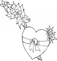 Сердце Раскраски для девочек бесплатно