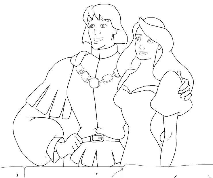 Принцы и принцессы Найти раскраски цветов