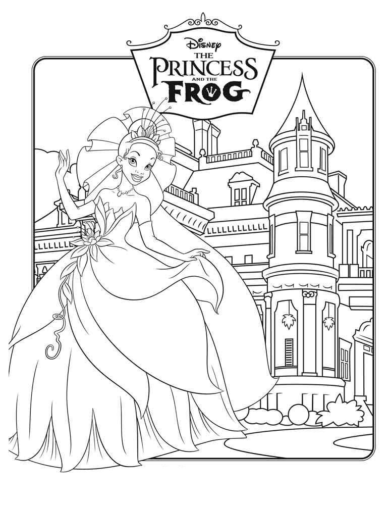 Царевна лягушка Раскраски с цветами распечатать бесплатно
