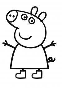 Свинка пепа обнимает Раскраски с цветами распечатать бесплатно