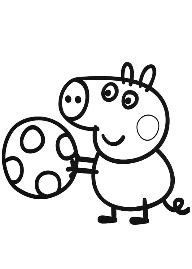 Свинка пепа футбол Раскраски с цветами распечатать бесплатно