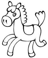 Лошадка играется Раскраски с цветами распечатать бесплатно