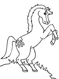 Лошадка Раскраски с цветами распечатать бесплатно