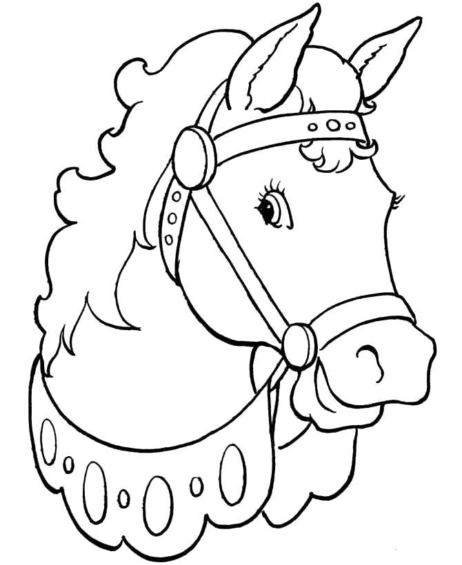 Лошадь Раскраски с цветами распечатать бесплатно