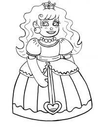 Принцесса с большими глазами Раскраски с цветами распечатать бесплатно