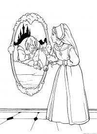 Красавица и чудовище Раскраски детские с цветами