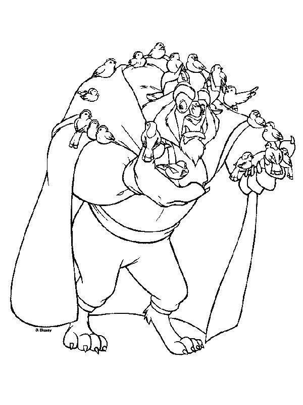 чудовище с птенчиками Раскраски детские с цветами