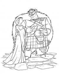 Воин и его жена Раскраски для девочек скачать