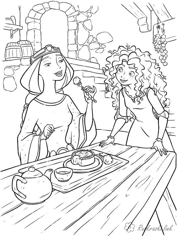 Королева и дочь Раскраски для девочек скачать