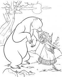 Мама мериды Раскраски с цветами распечатать бесплатно