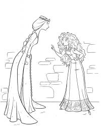 Принцесса не слушается маму Раскраски для девочек скачать