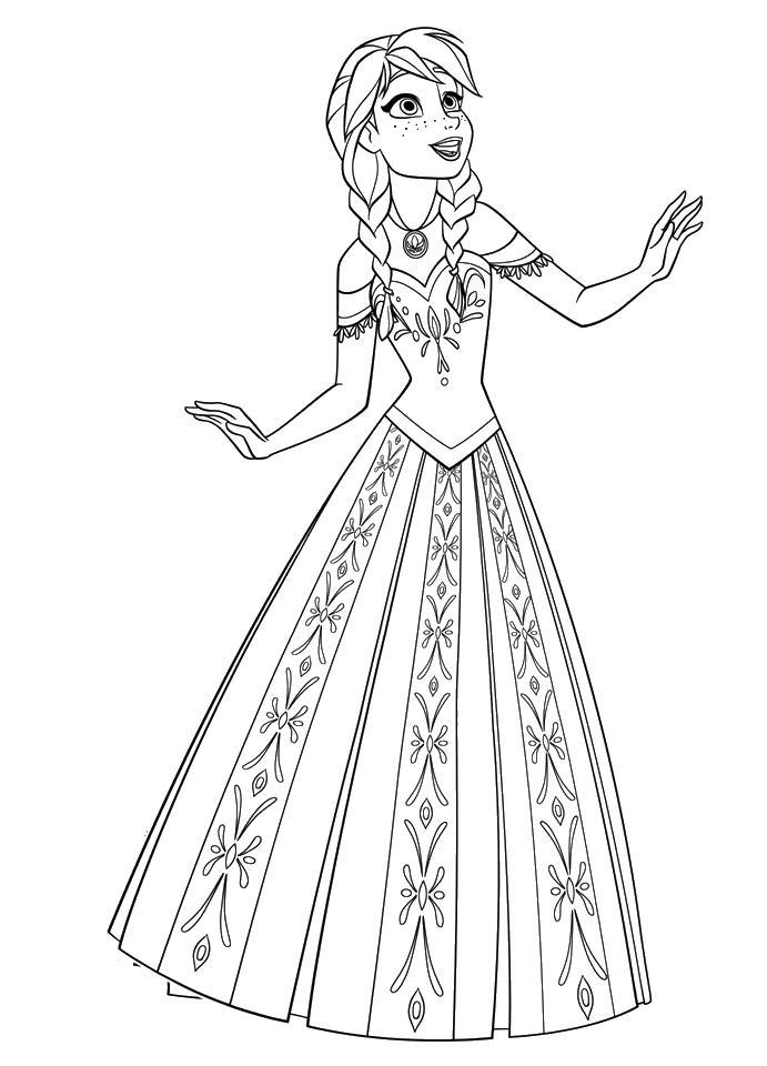 Младшая принцесса Раскраски с цветами распечатать бесплатно